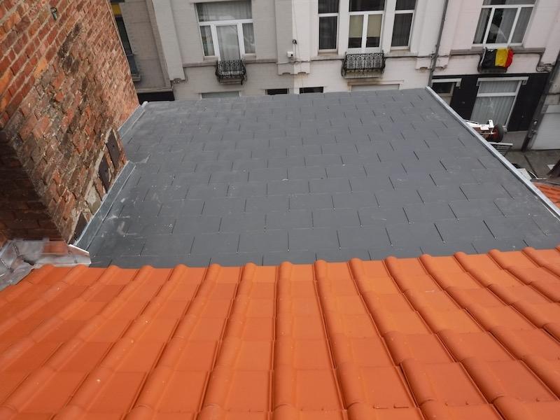 Renouvellement du pan de toiture avant rue du Postillon